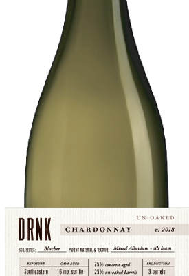 2018 Chardonnay, Un-Oaked, Dutton Mill Station Vineyard, Green Valley of the Russian River Valley