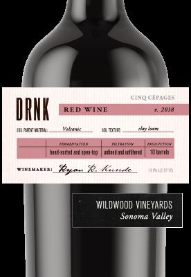 2018 Red Blend, Wildwood Vineyards, Sonoma Valley