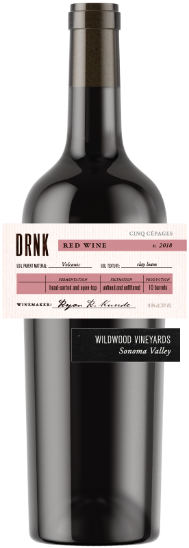 2018 Red Blend, Wildwood Vineyards, Sonoma Valley